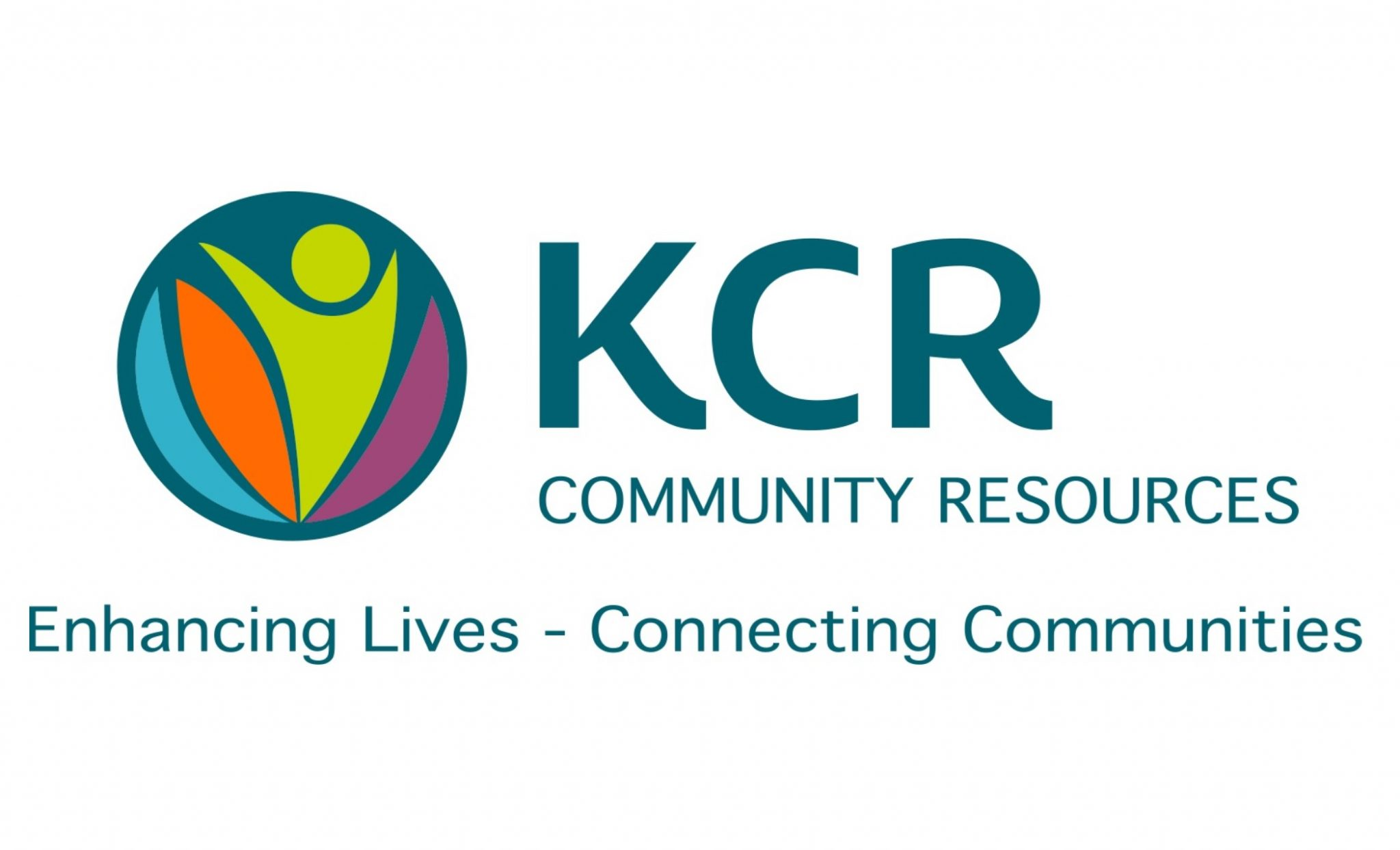"""""""KCR Community Resources: Enhancing Lives - Connecting Communities"""" logo"""
