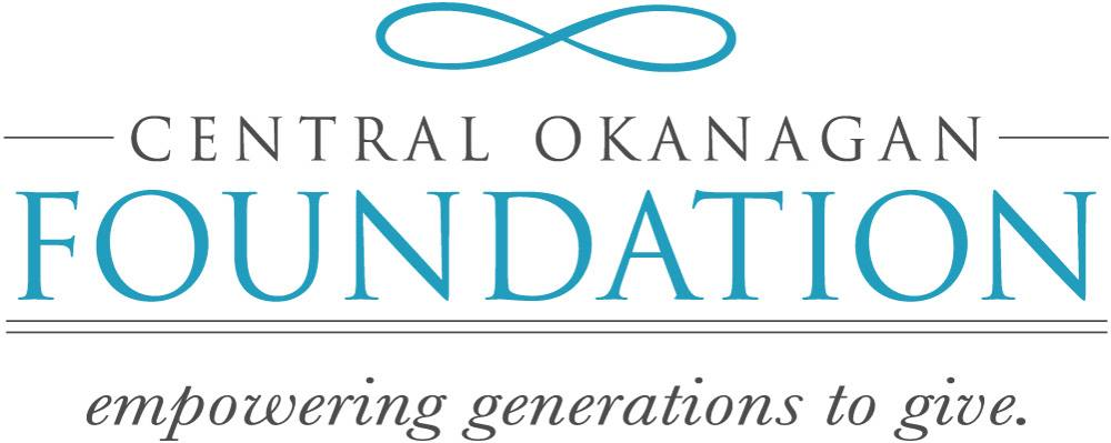 """""""Central Okanagan Foundation: empowering generations to give"""" logo"""