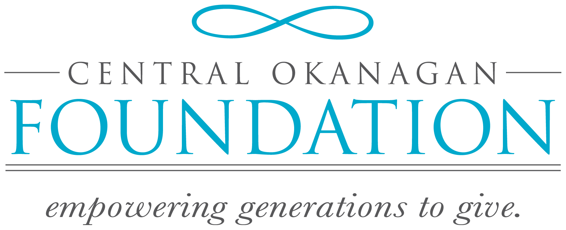 """""""Central Okanagan Foundation - empowering generations to give."""" logotype"""