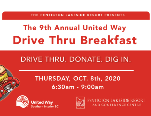 The 9th Annual United Way Drive Thru runs again October 8 at Penticton Lakeside Resort
